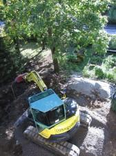 Kaivantoa tehdään sadevesiviemärille