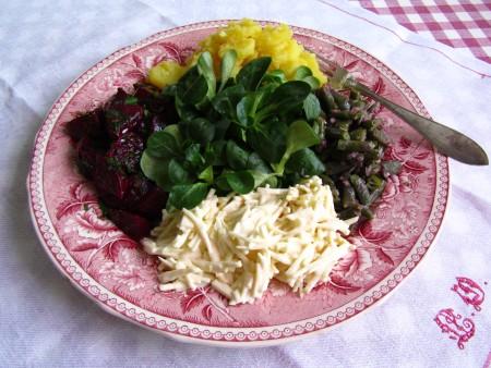 Talvinen salaattilautanen