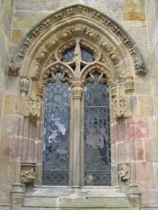 Goottilainen ikkuna Rosslynin kappelissa