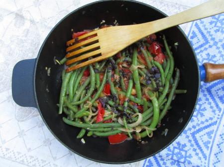 Vihreät pavut Provencen tyyliin