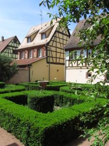 Puutarha Bergheimissa