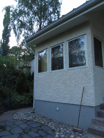 Talo on maalattu