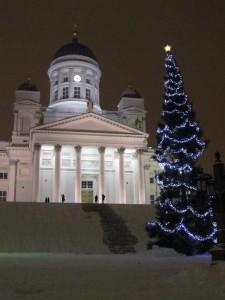 Joulukuusi Helsingin Senaatintorilla