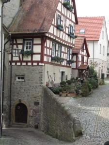 Bad Wimpfenissä on vähän tilaa puutarhalle